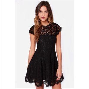 Revolve BB Dakota Rylin black lace dress